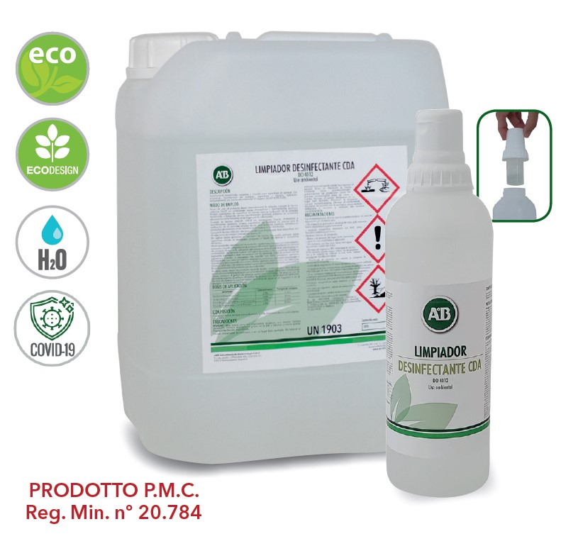 2in1 Detergente Disinfettante Concentrato per superfici e pavimenti DD4112 PMC 20784, KIEPE Electric SpA